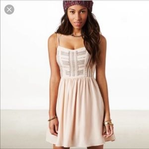American Eagle Blush Pink Beaded Cocktail Dress 2